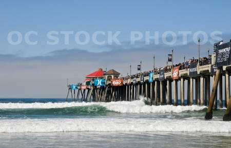 Huntington Beach Pier During The NIke US Open Surfing Event