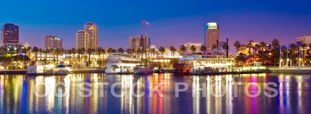 Long Beach Skyline at Dusk