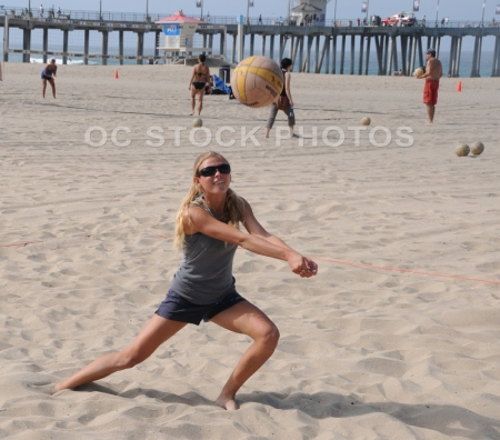 Beach Volleyball In Huntington Beach