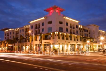 The Huntington Beach Pier area, Huntington Beach, Orange County, California.