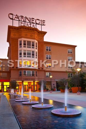 Stock photo of Carnegie Plaza in Anaheim